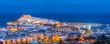 Panoramic view of Peniscola, Castellon (Spain)