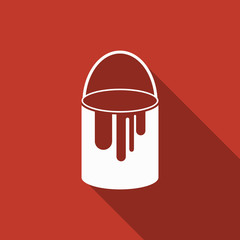 paint can icon with long shadow