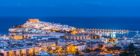 Panoramic view of Peniscola, Castellon (Spain)