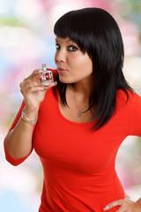 Frau mit Parfume