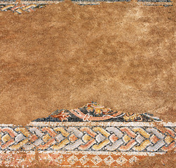 Ancient mosaic in Dion, Greece