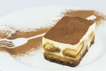 Тирамису. Десерт на тарелке