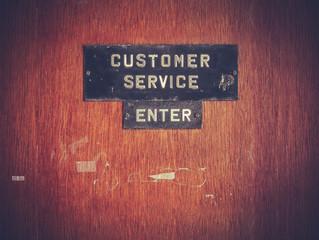 Customer Service Sign