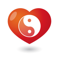 Heart with a yingyang