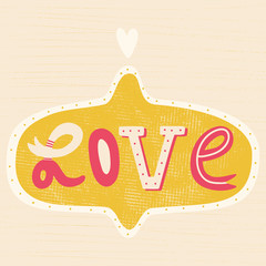 Cute LOVE sign for your design