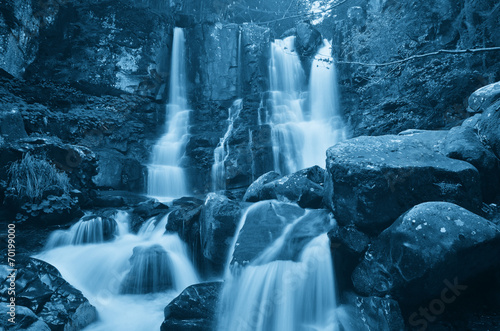 Panel Szklany waterfall in the forest