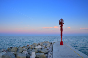 lighthouse over the pier