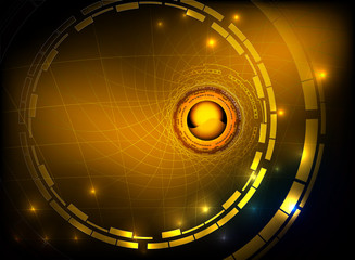 Hi tech gold vector abstract background
