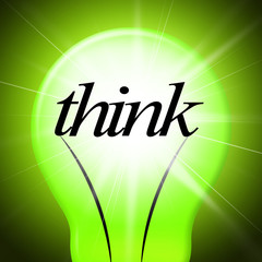 Think Idea Indicates Concept Inventions And Contemplating