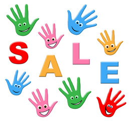 Sale Kids Indicates Youngsters Savings And Promotional