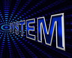 System Technology Represents Hi-Tech Data And Digital