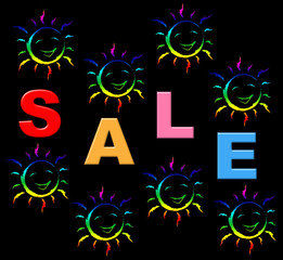 Sale Kids Indicates Toddlers Discount And Child