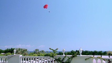 Parasailing at Mediterranean in Kemer beach area