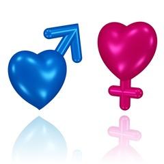 Mann und Frau - symbolisch
