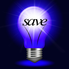 Lightbulb Save Indicates Savings Investment And Capital