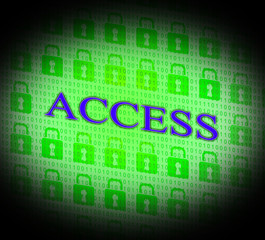 Security Access Represents Protect Encrypt And Accessible