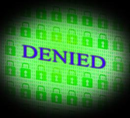 Denied Locked Indicates Access Deny And Decline