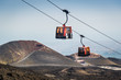 Leinwandbild Motiv Etna volcano funicular