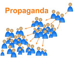 Propaganda Influence Means Sway Indoctrination And Publicity poster