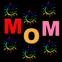 Mom Parents Means Mother And Baby And Mommy