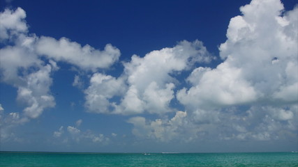 Ocean and Clouds, panoramic time-lapse