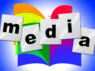 Word Media Shows Multimedia Newspaper And Tv
