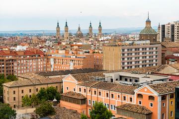 Beautiful view of city Zaragoza, Spain.