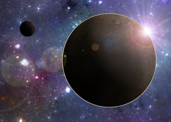 Deep space exoplanet
