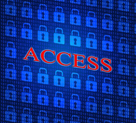 Security Access Represents Login Accessible And Unauthorized