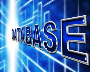 Data Technology Represents Dataflow Database And Hi-Tech