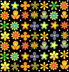 Flowers pattern texture background