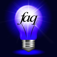 Faq Questions Represents Information Questioning And Assistance