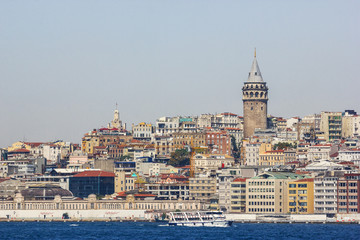 Beautiful view of Istanbul. Galata tower