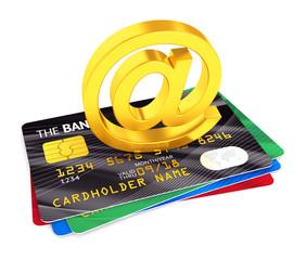 At symbol and credit cards