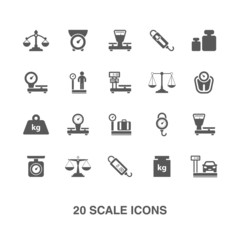 Scale icons set.