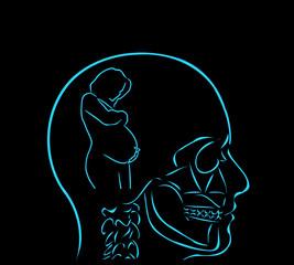 myśl i kobieta w ciąży