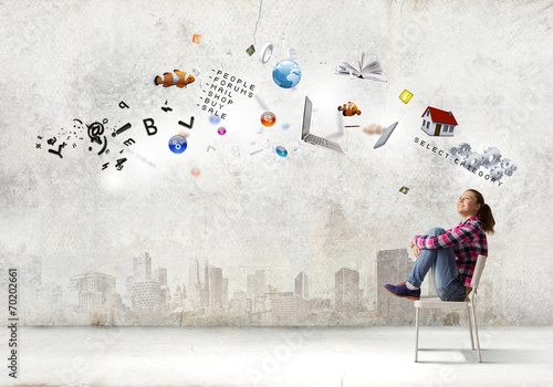 canvas print picture Education concept