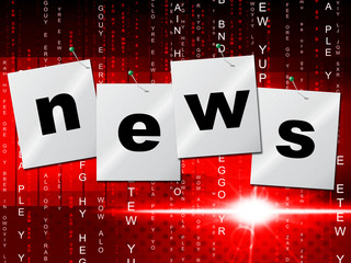 News Media Shows Radios Article And Headlines