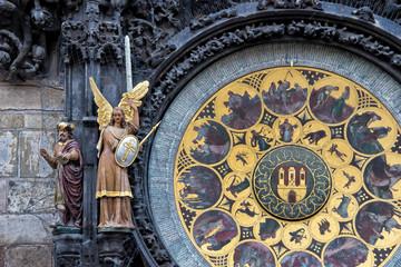 The Prague medieval astronomical clock, Czech Republic