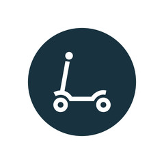 child scooter circle background icon.