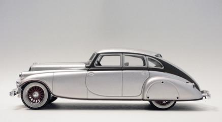 Classic Silver Retro Car