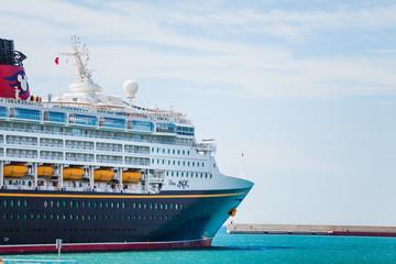 SEPTEMBER 8, 2014: Cruise liner Disney Magic at Port of Malaga,