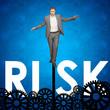 Постер, плакат: Businessman taking risks