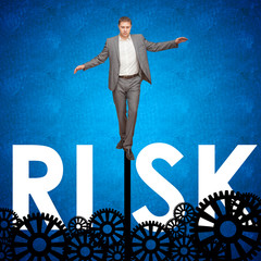 Businessman taking risks