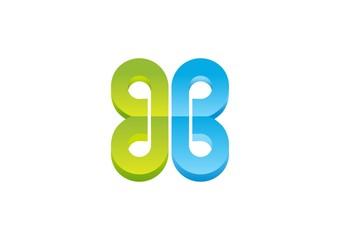 butterfly,logo,company,finance,corporate,infinity,letter B,G