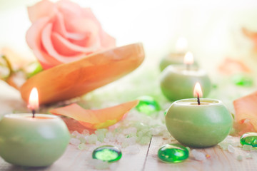 Scented candles salt bath attributes relaxation
