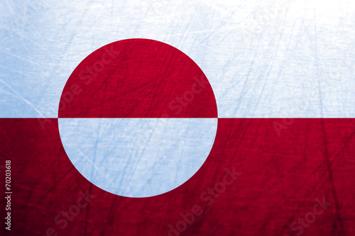 canvas print picture Ice Flag of Greenland