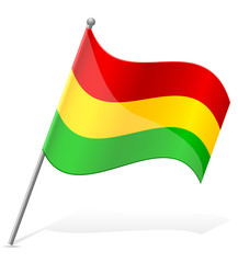 flag of Bolivia vector illustration