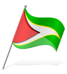 flag of Guyana vector illustration