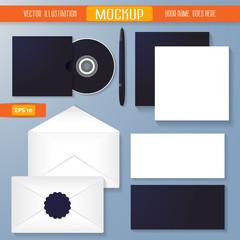 Vector Corporate Identity Mockup Templates